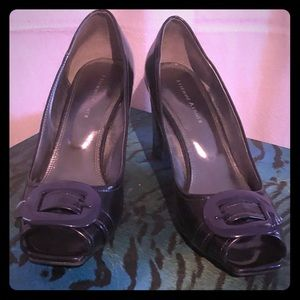 Etienne Aigner Deep Purple Patent Leather  Shoes